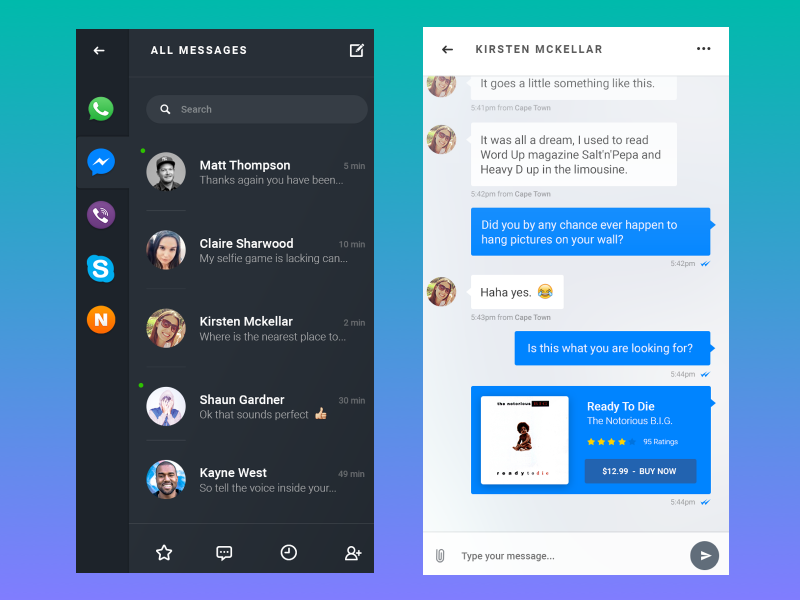 basic messaging applications features
