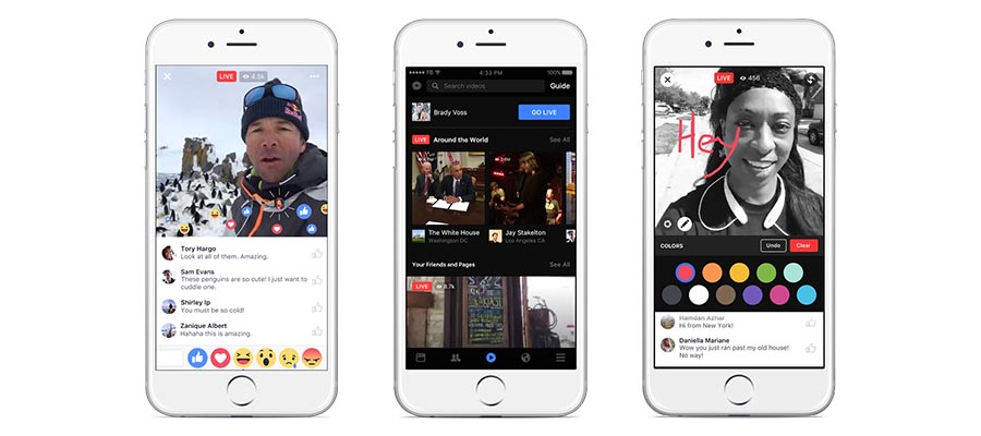 Facebook Live app to video stream live