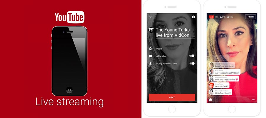 Youtube Live apps to stream video live