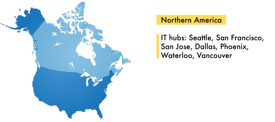 IT Outsourcing  to Northern America