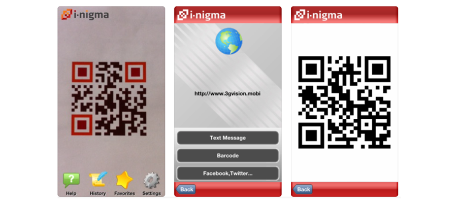 i-nigma QR and Barcode Scanner