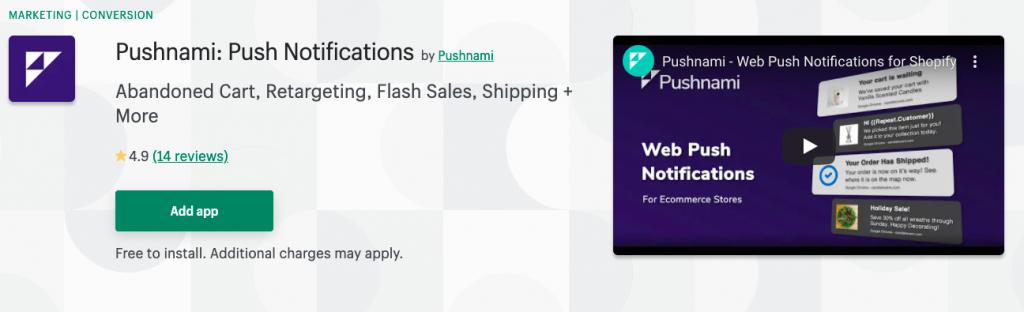 Pushnami: Push Notifications