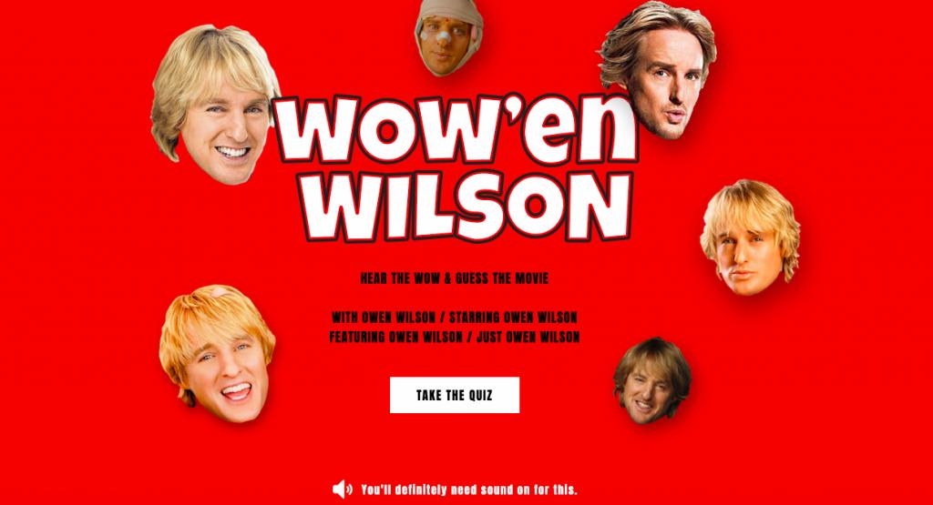 Wow'en Wilson Quiz