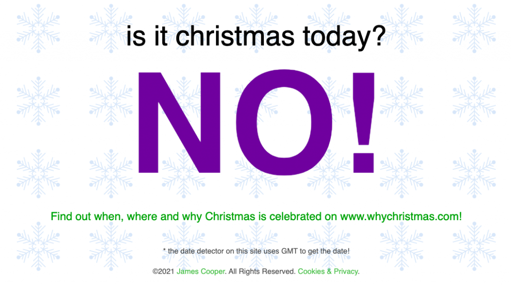 Is It Christmas Today?